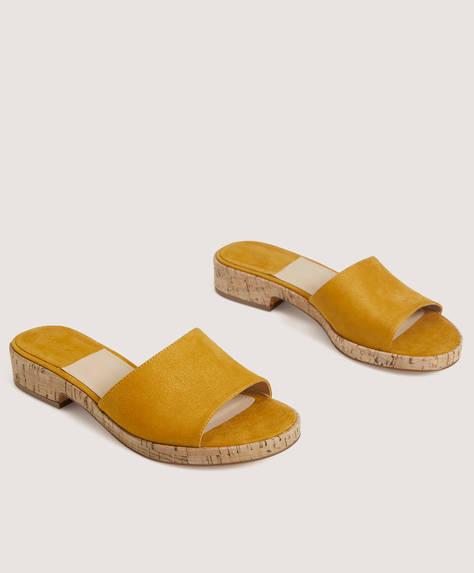 Sandale mit Plateau aus Kork