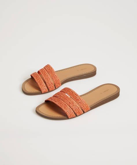 Sandalia tiras trenzadas