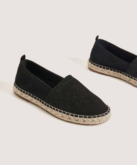 Stretch fabric espadrilles