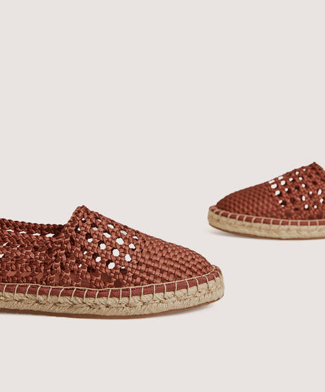 Cable-knit espadrilles