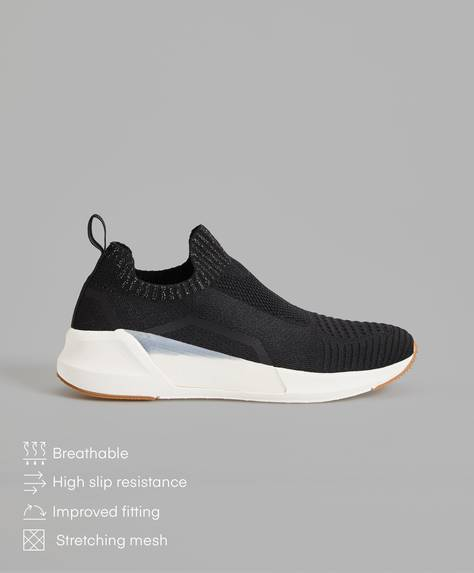 Sock trainers with translucent detail