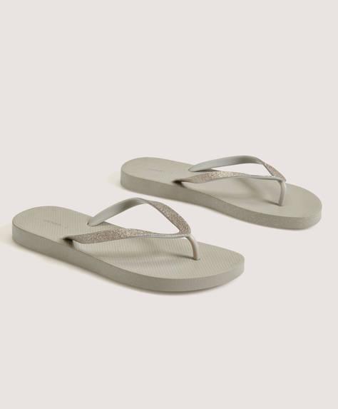 Glitter strap beach sandals
