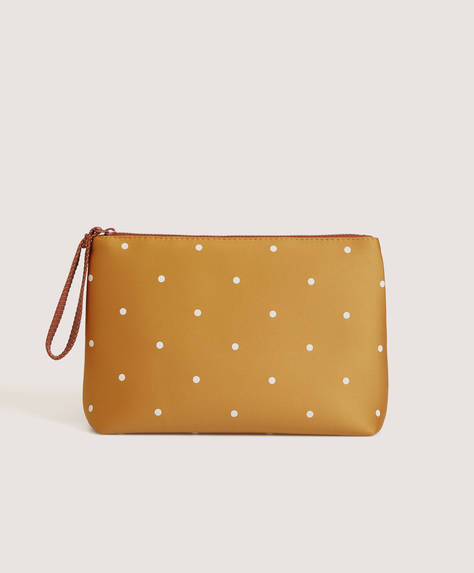 Polka dot toiletry bag