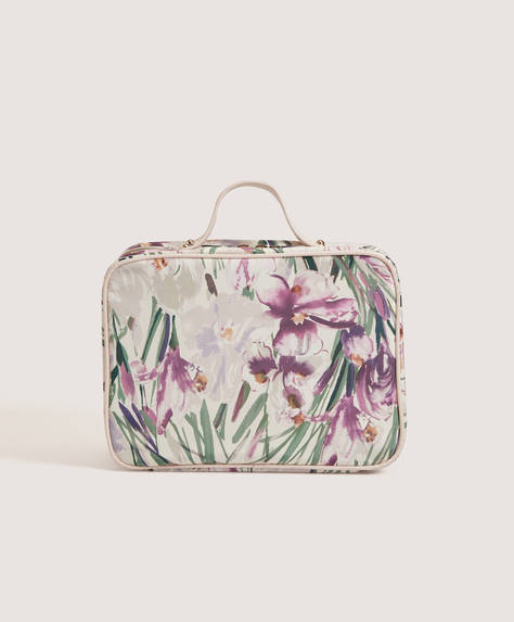 Watercolour flowers wash bag