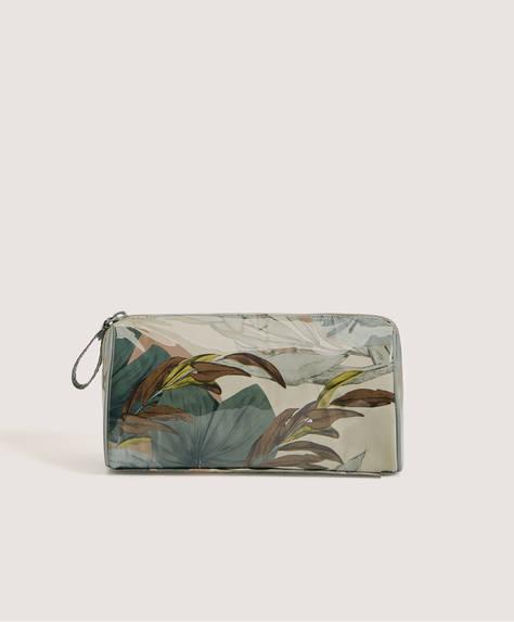 Kulturtasche mit tropischem Blumenprint