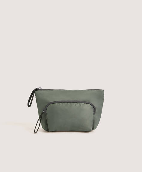 Soft wash bag with pocket