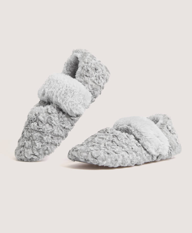 bf182abb5ea0 Furry slippers with stretch strap - Slippers - Pyjamas and homewear ...