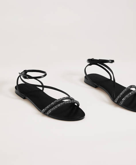 Minimalist jewel sandals