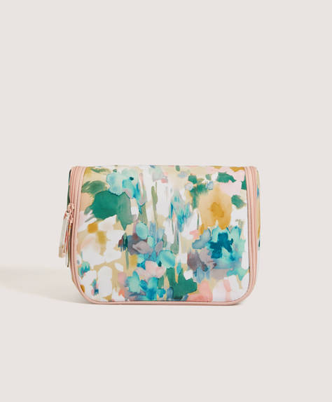 Pastel design hanging wash bag