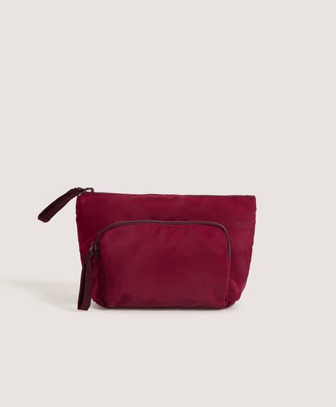 Soft wash bag with pocket