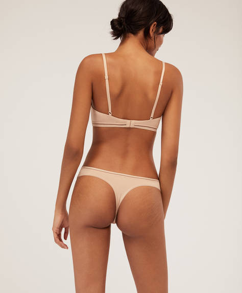 Cotton wide-strapped thong