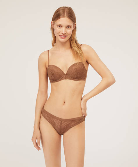 Geometric lace classic briefs