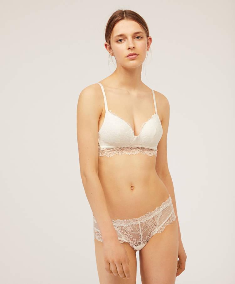850e4d67538d7 Essential Lace hipster briefs - Basics - Briefs - Lingerie | Oysho ...