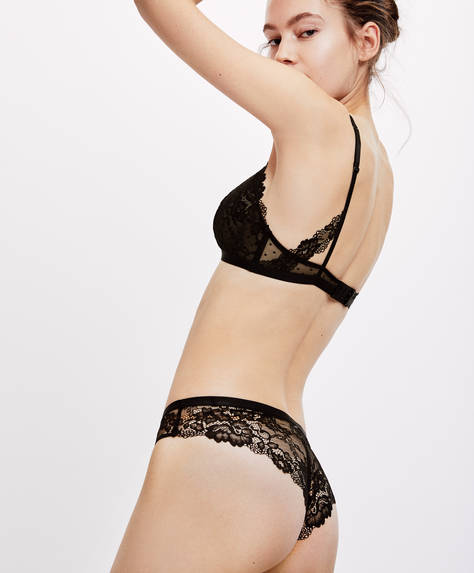 Essential Lace Brazilian hipster briefs