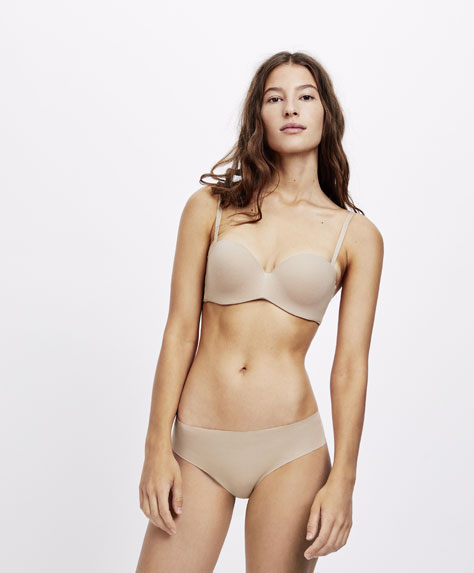Basic cotton Brazilian hipster briefs