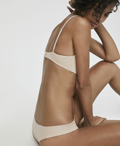 Cotton hipster thong