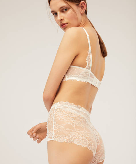 Lace high waist briefs