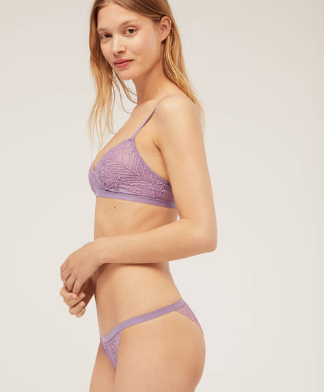 Strappy Brazilian briefs in lace