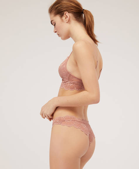Brazilian briefs with large flower