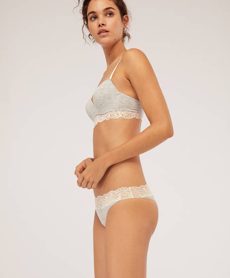 Modal and lace Brazilian briefs