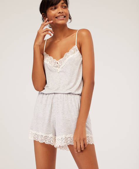 Modal and lace shorts