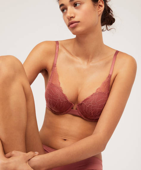 Lightly-padded lace bra