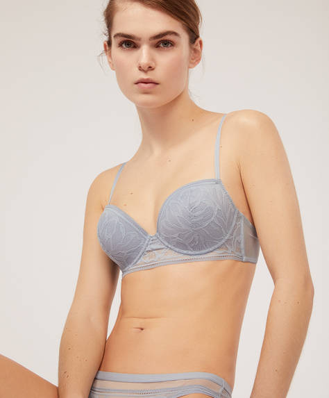 Lightly-padded abstract bra