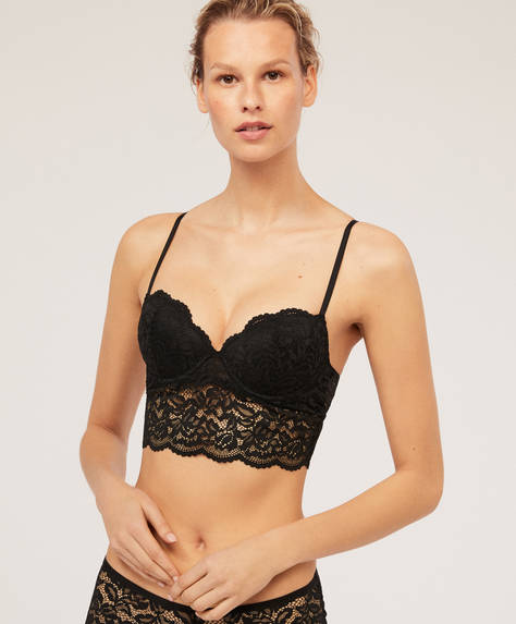 Crochet lightly-padded bra