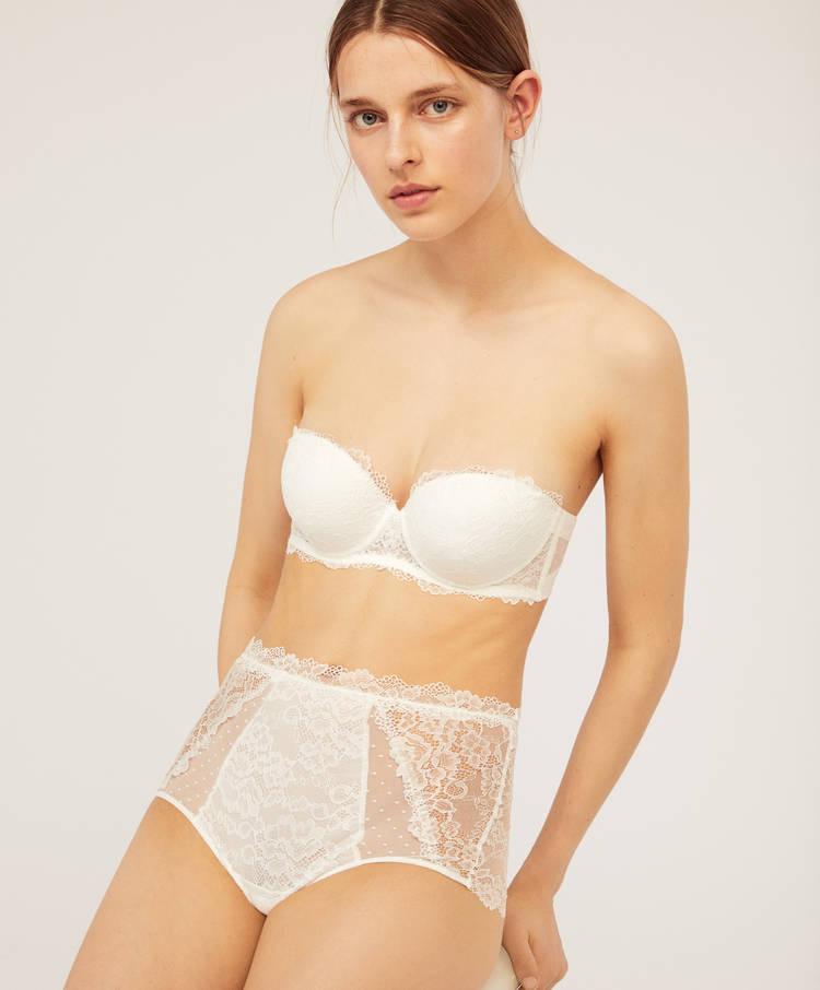 90e8baed19849 Lace push-up bra - Strapless - Bras - Lingerie