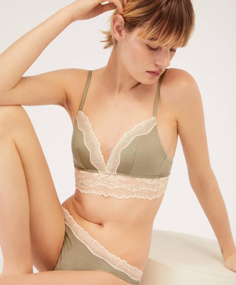 befa6002e1 Leaf triangle bra - Lightly padded triangle - Bras - Lingerie ...