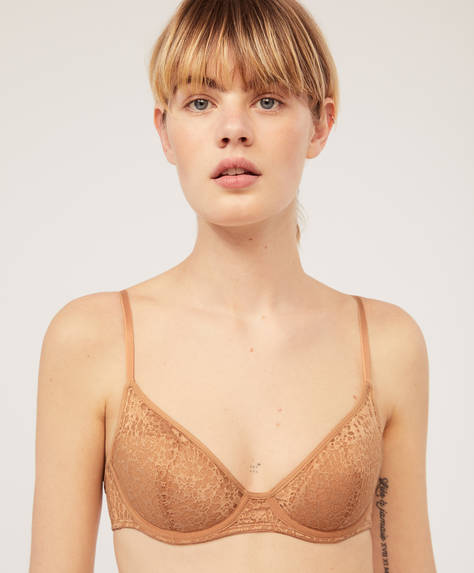 Patterned halterneck bra