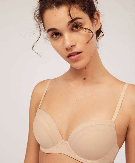 Microfibre push-up bra