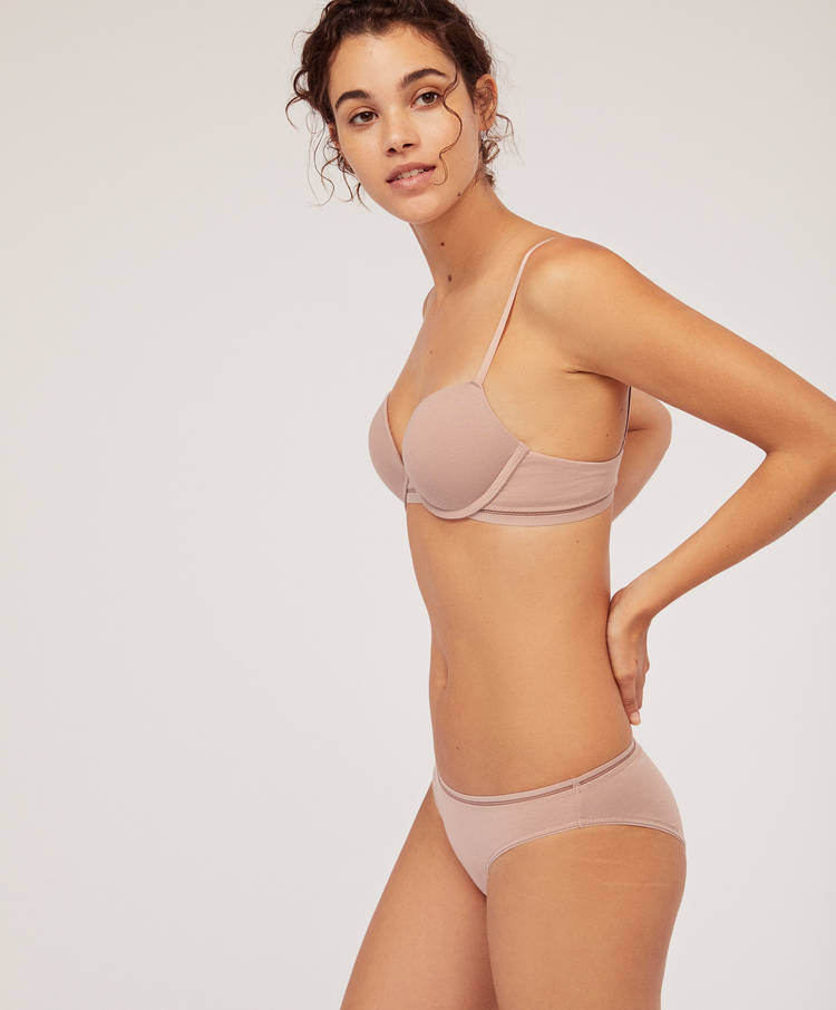 1c78c45e90 Cotton push-up bra - Join Life Collection - JOIN LIFE | Oysho España