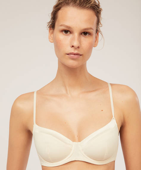 Satin bra with no padding