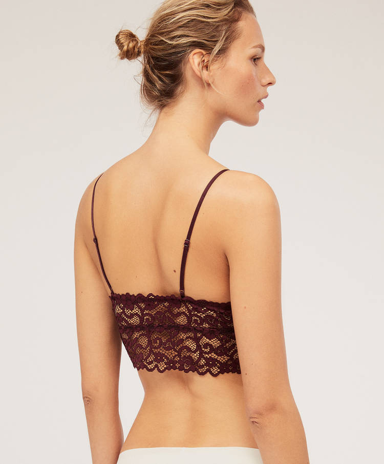 1537a87fea Crochet lace bralette - Non-wired triangle - Bras - Lingerie