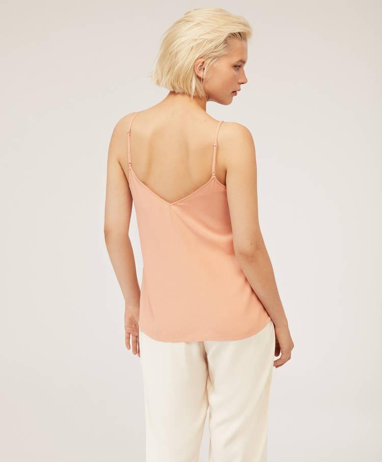 c1cc37b764 Top tirantes blonda ancha - Camisetas - Baño y beachwear