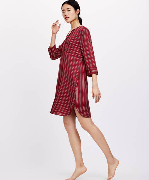 Striped nightdress