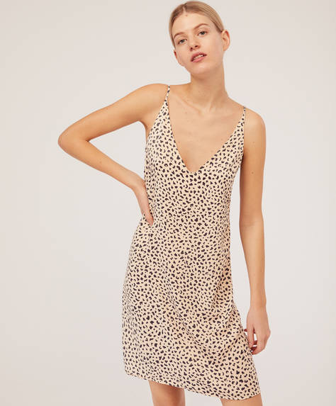 Short leopard nightdress