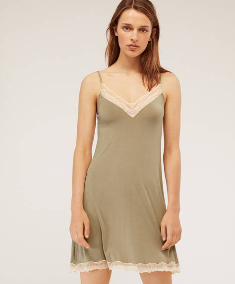 Modal leaf nightdress