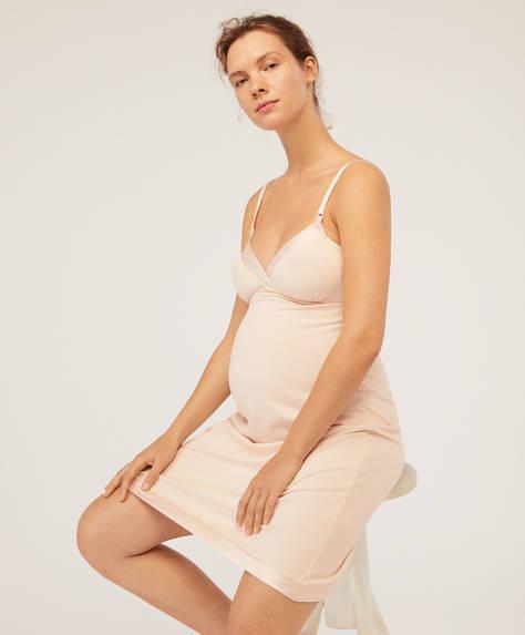 Satin maternity nightdress