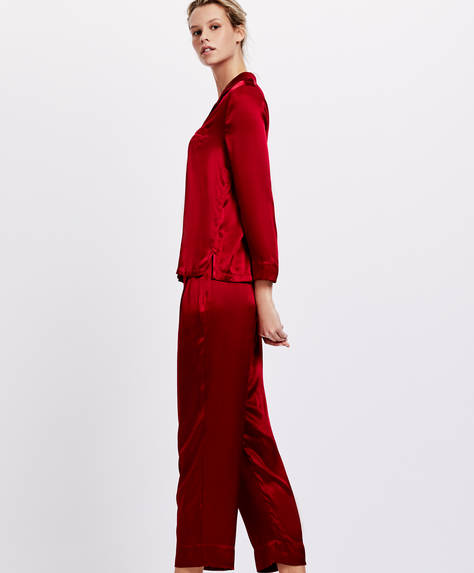 Red marlone trousers
