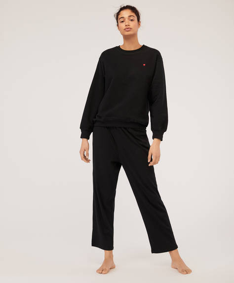 Anthracite ribbed trousers