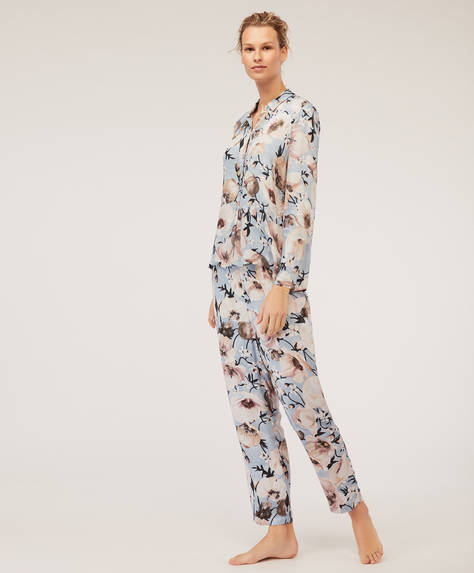 White poppy trousers