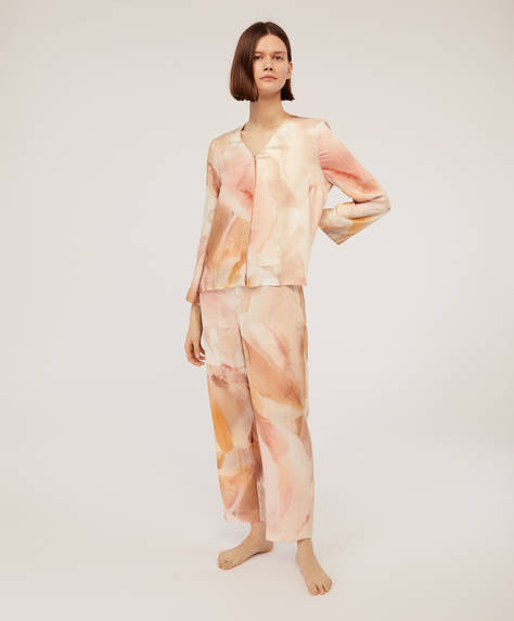 Pink floral ions trousers