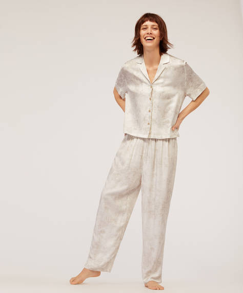 Soft snakeskin trousers