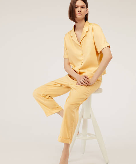 Plain yellow trousers