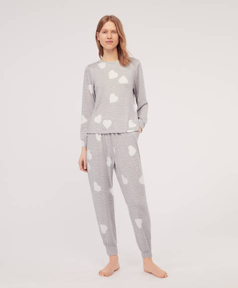 Extra-soft hearts trousers