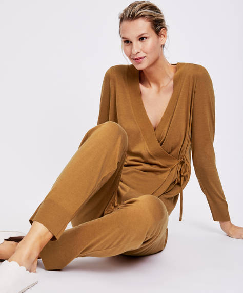 Plain ochre trousers