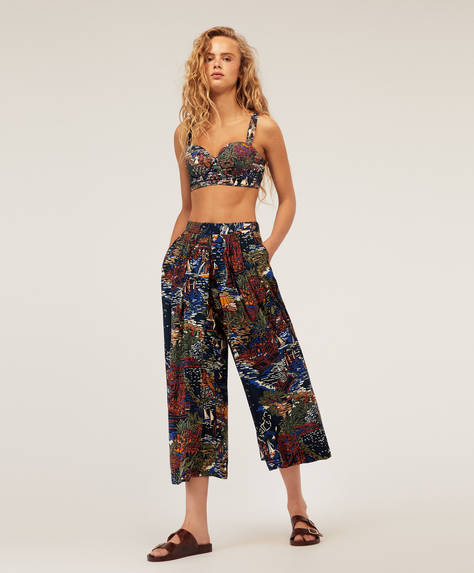 Wide-leg boat trousers