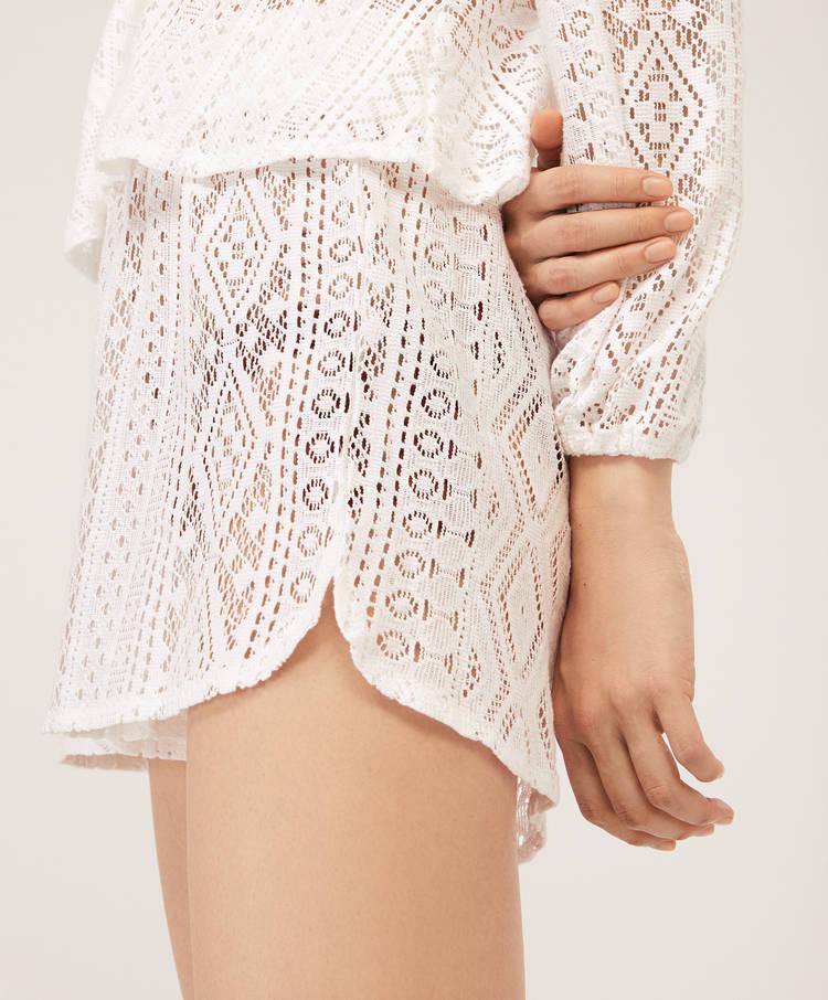 Crochet Shorts Beachwear Swimwear And Beachwear Oysho Qatar
